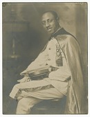 view Photograph of unidentified Pittsburgh-based member of I.B.P.O.E.W. in regalia digital asset number 1