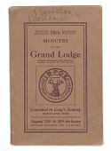 view <I>Annual 18th Meeting Minutes of the Grand Lodge, Improved Benevolent and Protective Order of Elks of the World</I> digital asset number 1