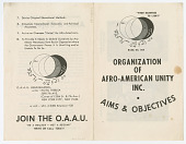 view <I>Organization of Afro-American Unity Inc. Aims and Objectives</I> digital asset number 1