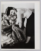 view Photograph of a woman, Jean, with a fur coat digital asset number 1