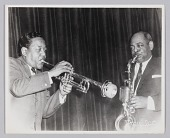 """view Photograph of Harry """"Sweets"""" Edison and Coleman Hawkins digital asset number 1"""
