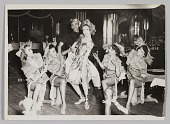view Photograph of five female performers and one male performer digital asset number 1