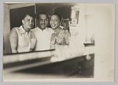 view Photograph of Laura Cathrell, Birdie Warfield Edison, and an unidentified man digital asset number 1