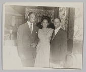 view Photograph of Birdie Warfield Edison with two unidentified men digital asset number 1