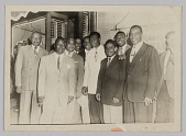 """view Photograph of Harry """"Sweets"""" Edison with a group of men digital asset number 1"""
