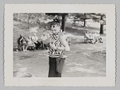 view Photograph of Birdie Warfield Edison in a park digital asset number 1