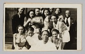 view Photograph of a group ten female performers in matching costumes and three men digital asset number 1