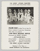 view Advertisement card for Club 845's Gala Holiday Revue digital asset number 1