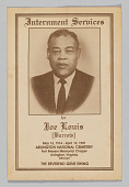 view Program for the interment services for Joe Louis digital asset number 1