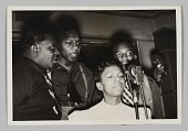view Photograph of Ivie Anderson, Rex Stewart, Harry Carney, and Hayes Alvis digital asset number 1