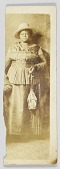 view A photographic postcard of an unidentified woman digital asset number 1