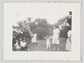 view Photographic print of women and children outside digital asset number 1