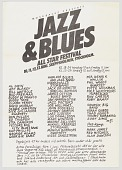 view Flier for Jazz and Blues All Star Festival in Stockholm digital asset number 1