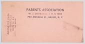 view Document for the Parents Association of W. J. Damrosch Junior High School digital asset number 1