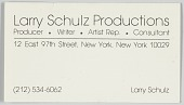 view Business card for Larry Schulz Productions digital asset number 1