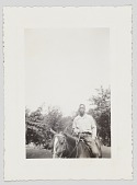 view Photographic print of a man on horseback digital asset number 1