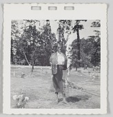 view Photographic print of a person in a cemetery digital asset number 1