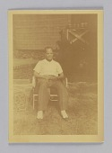 view Chromogenic print of a man sitting in a lawn chair digital asset number 1