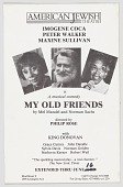"""view Flier advertising """"My Old Friends"""" at the American Jewish Theatre digital asset number 1"""