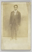 view Photographic postcard of a man in a suit digital asset number 1