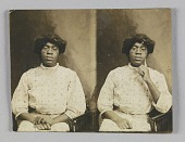 view Stereograph card of of an unidentified woman digital asset number 1