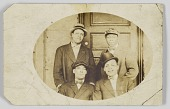 view Photographic postcard of four unidentified men digital asset number 1