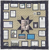 view Memorial Quilt for Tuskegee Airman 2d Lt. James McCullin digital asset number 1