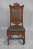 view Pulpit chair from Saint Augustine Catholic Church of New Orleans digital asset number 1
