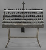 view Votive candle stand with base from Saint Augustine Catholic Church digital asset number 1