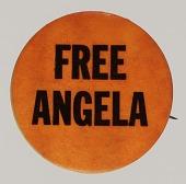 view Pinback button advocating for Angela Davis digital asset number 1