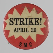 view Pinback button for the Student Mobilization Committee digital asset number 1