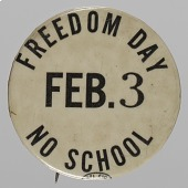 view Pinback button for NYC School boycott digital asset number 1