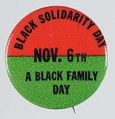 view Pinback button for Black Solidarity Day digital asset number 1