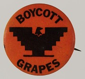 view Pinback button for the Delano Grape Strike digital asset number 1