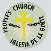 view Pinback button for the People's Church / Iglesia De La Gente digital asset number 1
