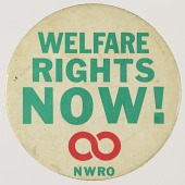 view Pinback button for the National Welfare Rights Organization digital asset number 1
