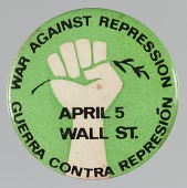 view Pinback button with War Against Repression / Guerra Contra Represión digital asset number 1