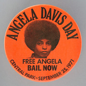 view Pinback button for Angela Davis Day digital asset number 1
