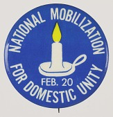 view Pinback buttons for the National Mobilization for Domestic Unity digital asset number 1