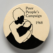 view Pinback button for the Poor People's Campaign digital asset number 1