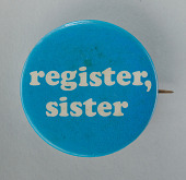 view Pinback button for promoting voting registration digital asset number 1