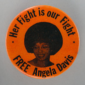 view Pinback button supporting Angela Davis digital asset number 1