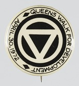 view Pinback button for the Queens Walk for Development digital asset number 1