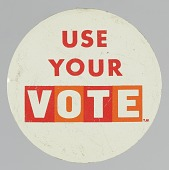"view Button with the slogan ""Use Your Vote"" digital asset number 1"