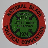 view Pinback button for the 1974 National Black Political Convention digital asset number 1