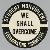 view Pinback button for the Student Nonviolent Coordinating Committee digital asset number 1