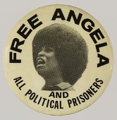 view Pinback button in support of Angela Davis digital asset number 1