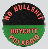 view Pinback button for the Polaroid Revolutionary Workers Movement digital asset number 1