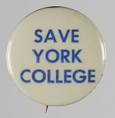view Pinback button for York College digital asset number 1
