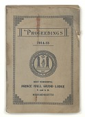 view <I>Proceedings of the Special and Annual Communications of the Most Worshipful Prince Hall Grand Lodge, 1914-1915</I> digital asset number 1